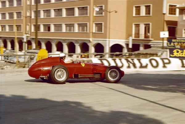 1957 Monaco Grand Prix.Monte Carlo, Monaco.16-19 May 1957.Wolfgang von Trips (Lancia-Ferrari 801), shared with Mike Hawthorn.Ref-57 MON 05.World Copyright - LAT Photographic