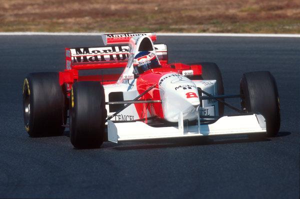 Tanaka International, Aida, Japan.20-22 October 1995.Jan Magnussen (McLaren MP4/10B Mercedes) 10th position on his Grand Prix debut.Ref-95 PAC 03.World Copyright - LAT Photographic