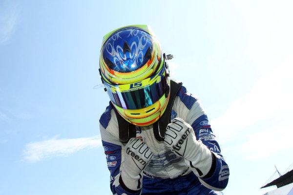 2017 British F4 Championship, Rockingham, 26th-27th August 2017, Logan Sargeant (USA) Carlin British F4  World copyright.. JEP/LAT Images