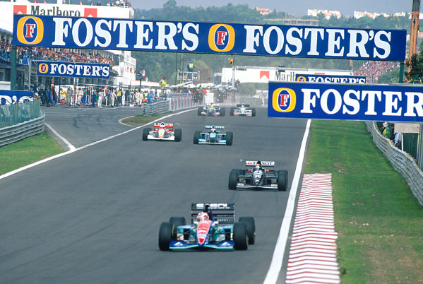 Estoril, Portugal. 23rd - 25th September 1994.Rubens Barrichello (Jordan 194-Hart), 4th position, action. World Copyright: LAT Photographic.Ref: Colour Transparency.