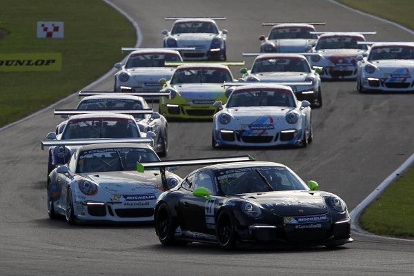 2015 Porsche Carrera Cup, Snetterton, Norfolk. 8th-9th August 2015, Jack Falla (GBR)  World copyright.Jakob Ebrey/LAT Photographic