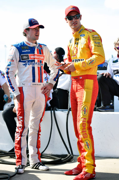 Monster Energy NASCAR Cup Series Toyota Owners 400 Richmond International Raceway, Richmond, VA USA Friday 28 April 2017 Ryan Blaney, Wood Brothers Racing, Motorcraft/Quick Lane Tire & Auto Center Ford Fusion and Joey Logano, Team Penske, Shell Pennzoil Ford Fusion World Copyright: Nigel Kinrade LAT Images ref: Digital Image 17RIC1nk03300