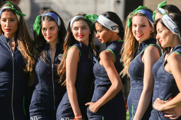 Circuit de Catalunya, Barcelona, Spain. Friday 12 May 2017. Grid Girls. World Copyright: Charles Coates/LAT Images ref: Digital Image AN7T4884