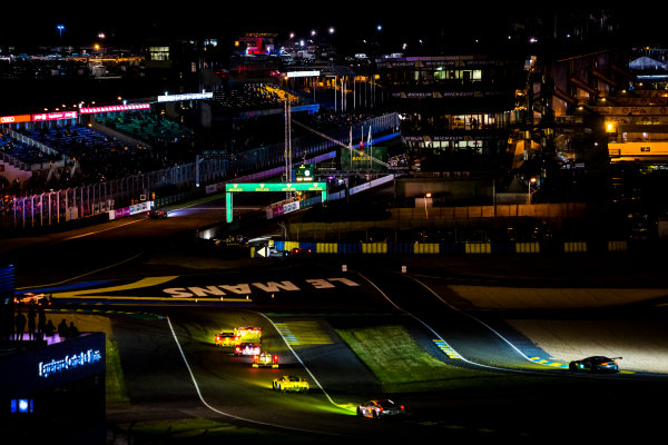 2016 Le Mans 24 Hours. Circuit de la Sarthe, Le Mans, France. Sunday 19 June 2016. A view of the Ford Chicane and start/finish straight during the race. World Copyright: Zak Mauger/LAT Photographic ref: Digital Image _79P8313