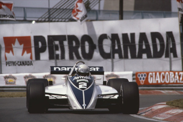 1982 Canadian Grand Prix  Montreal, Quebec, Canada. 11-13 June 1982.  Riccardo Patrese, Brabham BT49D Ford, 2nd position.  Ref: 82CAN03. World copyright: LAT Photographic