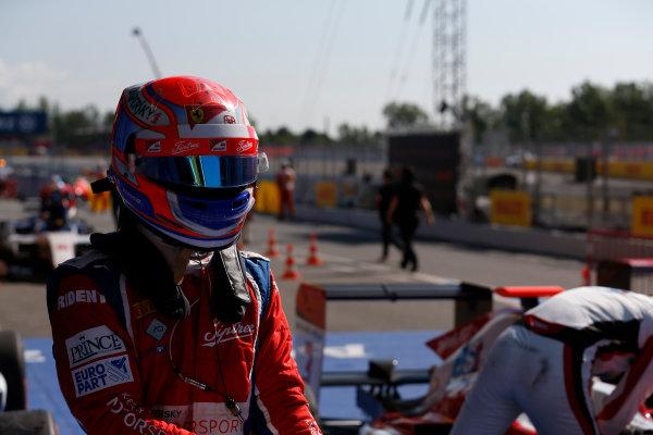 2016 GP3 Series Round 1 Circuit de Catalunya, Barcelona, Spain. Sunday 15 May 2016. Antonio Fuoco (ITA, Trident)  Photo: Sam Bloxham/GP3 Series Media Service. ref: Digital Image _R6T9392
