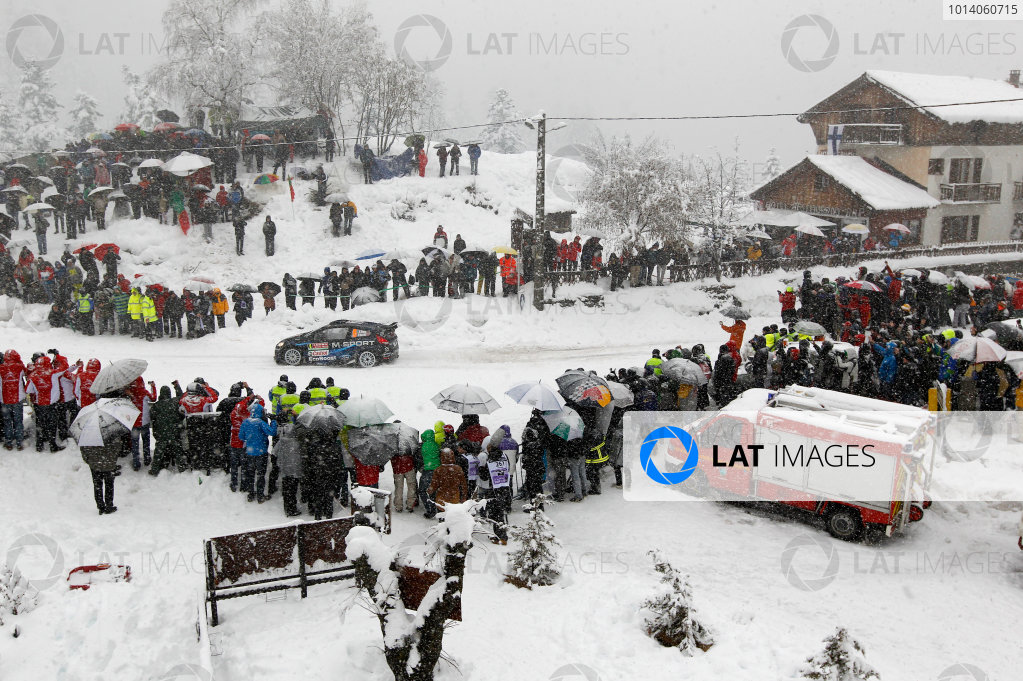 2014 World Rally Championship Monte Carlo Rally 13th - 19th January 2014 Elfyn Evans, Ford, action Worldwide Copyright: McKlein/LAT