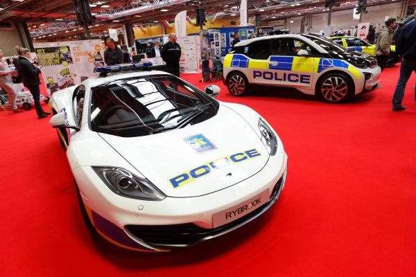 Autosport International Show NEC, Birmingham.  Sunday 12 January 2014. Police cars. World Copyright:Alastair Staley/LAT Photographic ref: Digital Image _R6T5441