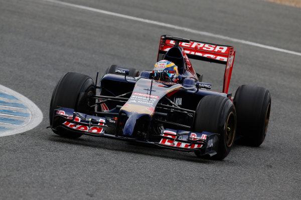 2014 F1 Pre Season Test 1 - Preview Circuito de Jerez, Jerez, Spain. Tuesday 28 January 2014. Jean-Eric Vergne, Toro Rosso STR9 Renault. World Copyright: Alastair Staley/LAT Photographic. ref: Digital Image _R6T8486