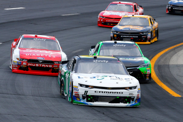 NASCAR XFINITY Series Overton?s 200 New Hampshire Motor Speedway, Loudon, NH USA Saturday 15 July 2017 Blake Koch, LeafFilter Gutter Protection Chevrolet Camaro, Dakoda Armstrong, JGL Racing Toyota Camry and Ryan Reed, Lilly Diabetes Ford Mustang World Copyright: Russell LaBounty LAT Images