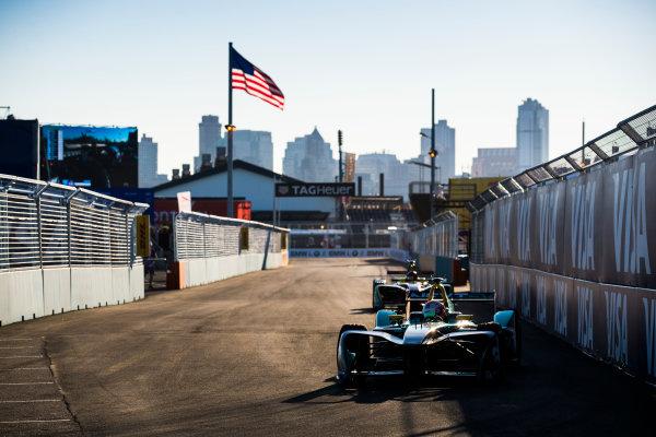 2016/2017 FIA Formula E Championship. Round 10 - New York City ePrix, Brooklyn, New York, USA. Sunday 16 July 2017. Nelson Piquet (BRA), NextEV NIO, Spark-NEXTEV, NEXTEV TCR Formula 002. Photo: Sam Bloxham/LAT/Formula E ref: Digital Image _J6I4153