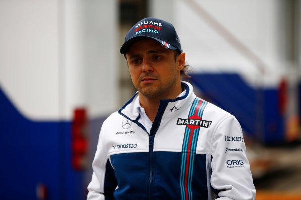 Silverstone, Northamptonshire, UK.  Sunday 16 July 2017. Felipe Massa, Williams Martini Racing.  World Copyright: Andy Hone/LAT Images  ref: Digital Image _ONY7586