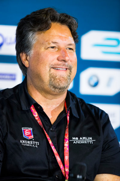 2016/2017 FIA Formula E Championship. Round 9 - Brooklyn, New York City, United States of America Friday 14 July 2017. Michael Andretti. Photo: Sam Bloxham/LAT/Formula E ref: Digital Image _W6I1499
