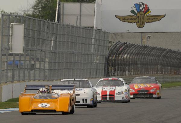 6-8 June, 2014, Indianapolis, Indiana, USA #8 1971 McLaren M8F followed by  NASCAR vintage cars ?2014 Dan R. Boyd LAT Photo USA