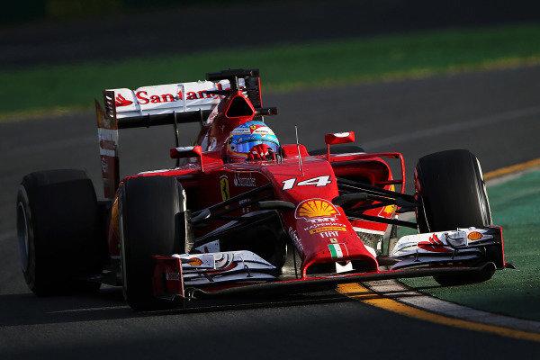 Fernando Alonso (ESP) Ferrari F14 T. Formula One World Championship, Rd1, Australian Grand Prix, Race, Albert Park, Melbourne, Australia, Sunday 16 March 2014. BEST IMAGE