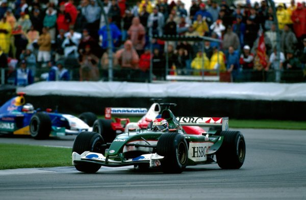 Justin Wilson (GBR) Jaguar R4 took a point for eigth placeUnited States Grand Prix, Rd15, Indianapolis Motor Speedway, Indianapolis, USA. 28 September 2003.BEST IMAGE