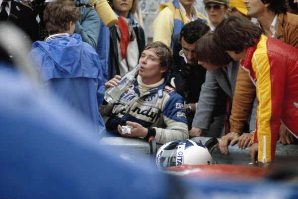 Didier Pironi, Ligier JS11/15 Ford, crashed coming out of Casino Square due to a gearbox problem on lap 55.