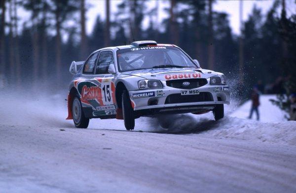 Alistair McRae, Hyundai Accent WRCSwedish Rally, Sweden 10-13/2/2000World - McKlein/LAT PhotographicRef: 2K WRC 08