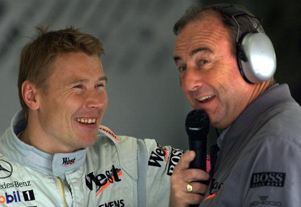 2001 Spanish Grand PrixCatalunya, Barcelona, Spain. 27-29 April 2001.Mika Hakkinen (McLaren Mercedes).World Copyright - Steve Etherington/LAT Photographicref: 18 mb Digital Image