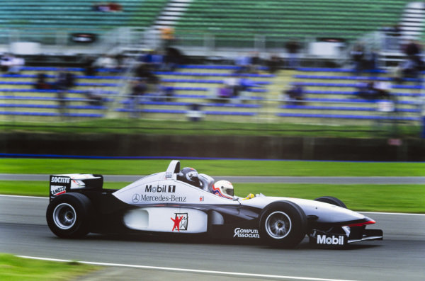 Martin Brundle and Max Mosley in the McLaren two-seater.
