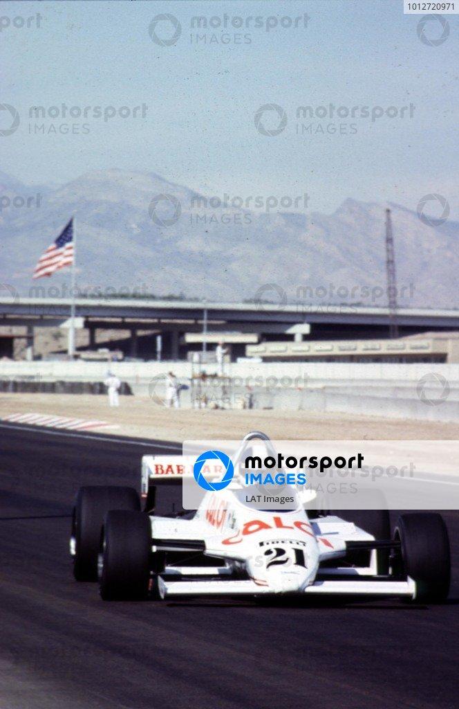 1981 Caesars Palace Grand Prix.Las Vegas, Nevada, USA.15-17 October 1981.Chico Serra (Fittipaldi F8C Ford). He did not qualify.World Copyright - LAT Photographic