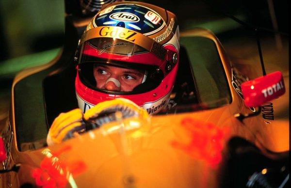 1996 German Grand Prix.Hockenheim, Germany.26-28 July 1996.Rubens Barrichello (Jordan 196 Peugeot) 6th position.World Copyright - LAT Photographic