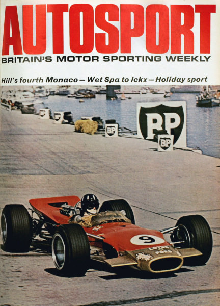 Cover of Autosport magazine, 31st May 1968