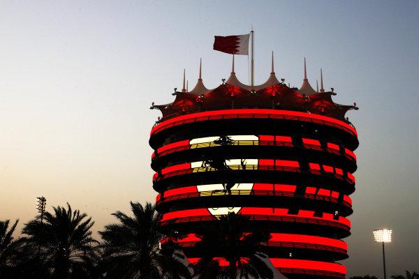 Ferrari branding on a circuit building