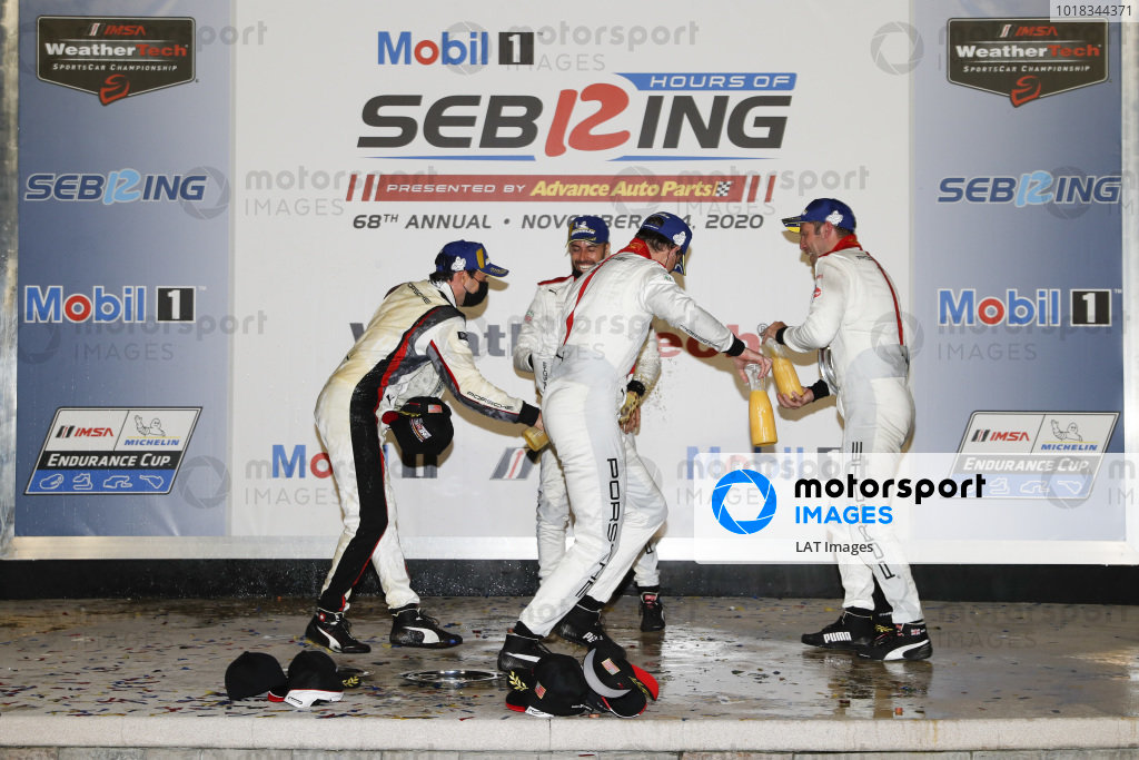Podium: Winning team: Porsche GT Team Winning drivers: Nick Tandy, Fred Makowiecki, Earl Bamber Second place team: Porsche GT Team Second place drivers: Laurens Vanthoor, Earl Bamber, Neel Jani champagne, orange juice