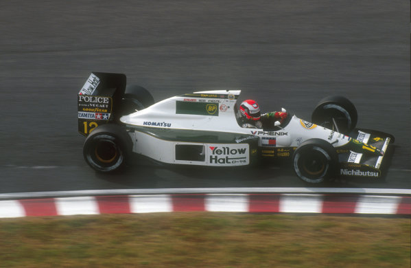 1991 Japanese Grand Prix.Suzuka, Japan.18-20 October 1991.Johnny Herbert (Lotus 102B Judd). He exited the race when his engine cut out on lap 31.Ref-91 JAP 22.World Copyright - LAT Photographic
