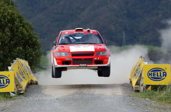 2002 World Rally Championship.Propecia Rally of New Zealand, Auckland, October 3rd-6th.Francois Delecour jumps at the end of stage 14.Photo: Ralph Hardwick/LAT