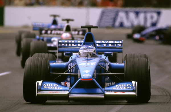 Australian Grand Prix.Albert Park, Melbourne, Australia. 2-4 March 2001.Giancarlo Fisichella (Benetton B201 Renault).World Copyright - Michael Cooper/LAT Photographic ref: 35mm Image Aus A23