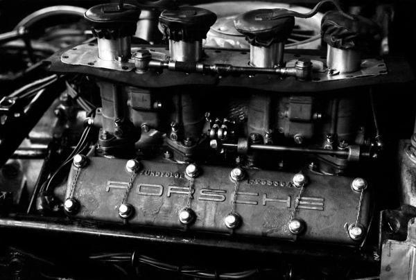 The Porsche Flat Four engine that powered the Porsche 718. Dutch Grand Prix, Zandvoort, 20 May 1962.