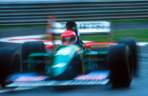 1994 Belgian Grand Prix.Spa-Francorchamps, Belgian.26-28 August 1994.Erik Comas (Larrousse LH94 Ford). He exited the race with an engine failure.Ref-94 BEL 15.World Copyright - LAT Photographic
