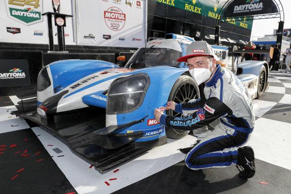 #6 Muehlner Motorsports America Duqueine M30-D08, LMP3: Moritz Kranz, Laurents Hoerr, victory lane, pole award