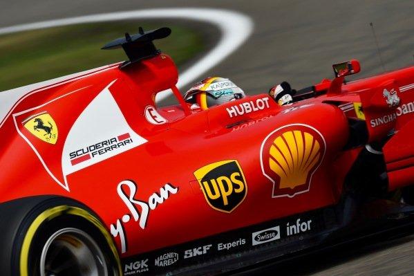 Sebastian Vettel (GER) Ferrari SF70-H at Formula One World Championship, Rd2, Chinese Grand Prix, Qualifying, Shanghai, China, Saturday 8 April 2017.