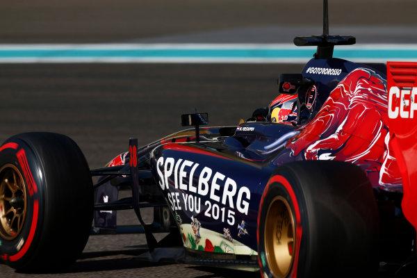 Yas Marina Circuit, Abu Dhabi, United Arab Emirates. Wednesday 26 November 2014. Max Verstappen, Toro Rosso STR9 Renault.  World Copyright: Sam Bloxham/LAT Photographic. ref: Digital Image _SBL8870