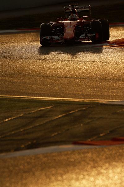 2015 F1 Pre Season Test 3 - Day 4 Circuit de Catalunya, Barcelona, Spain. Thursday  Sunday 1 March 2015. Sebastian Vettel, Ferrari SF15-T.  World Copyright: Sam Bloxham/LAT Photographic. ref: Digital Image _14P5493