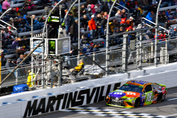 Monster Energy NASCAR Cup Series First Data 500 Martinsville Speedway, Martinsville VA USA Sunday 29 October 2017 Kyle Busch, Joe Gibbs Racing, M&M's Halloween Toyota Camry World Copyright: Nigel Kinrade LAT Images