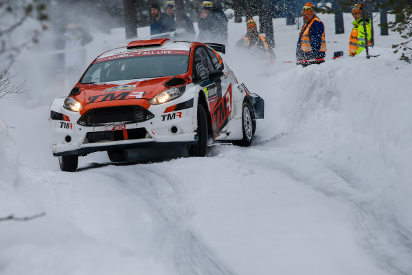 2018 FIA World Rally Championship, Round 02, Rally Sweden 2018, February 15-18, 2018. Takamoto Katsuta, Ford, action, Worldwide Copyright: McKlein/LAT