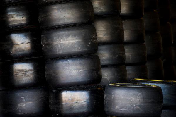 2017 FIA Formula 2 Round 11. Yas Marina Circuit, Abu Dhabi, United Arab Emirates. Thursday 23 November 2017. Pirelli tyres. Photo: Zak Mauger/FIA Formula 2. ref: Digital Image _X0W7353