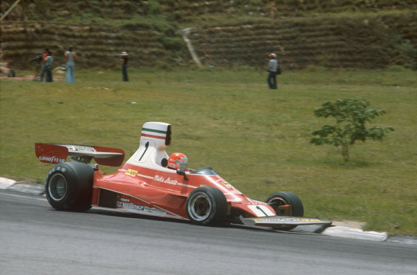 Interlagos, Sao Paulo, Brazil. 23-25 January 1976. Niki Lauda, Ferrari 312T. Ref: 76BRA01. World Copyright - LAT Photographic
