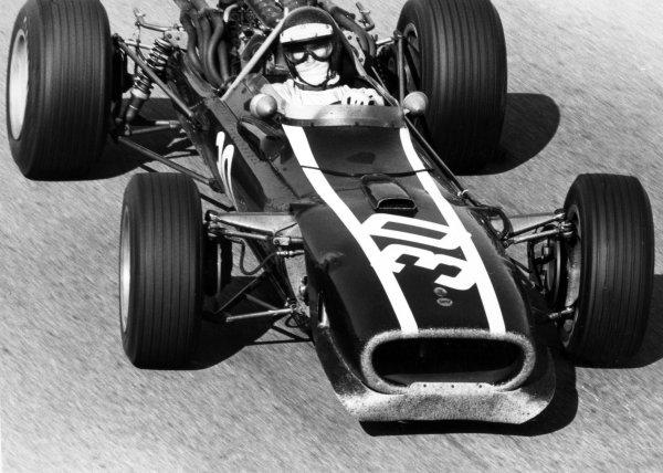 1967 Italian Grand Prix.Monza, Italy. 10 September 1967.Jochen Rindt, Cooper T81-Maserati, 4th position, action.World Copyright: LAT PhotographicRef: Motor b&w print