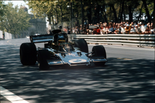 Montjuich Park, Barcelona, Spain.27-29 April 1973.Ronnie Peterson (Lotus 72 Ford).Ref-35mm 73 ESP 56.World Copyright - LAT Photographic