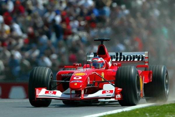 Pole sitter Rubens Barrichello (BRA) Ferrari F2002.
