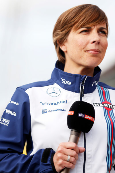 Silverstone Circuit, Northamptonshire, England. Thursday 2 July 2015. Claire Williams, Deputy Team Principal, Williams F1. World Copyright: Alastair Staley/LAT Photographic ref: Digital Image _R6T2914