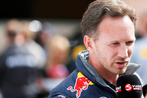 Monte Carlo, Monaco. Thursday 21 May 2015. Christian Horner, Team Principal, Red Bull Racing. World Copyright: Alastair Staley/LAT Photographic. ref: Digital Image _R6T8468
