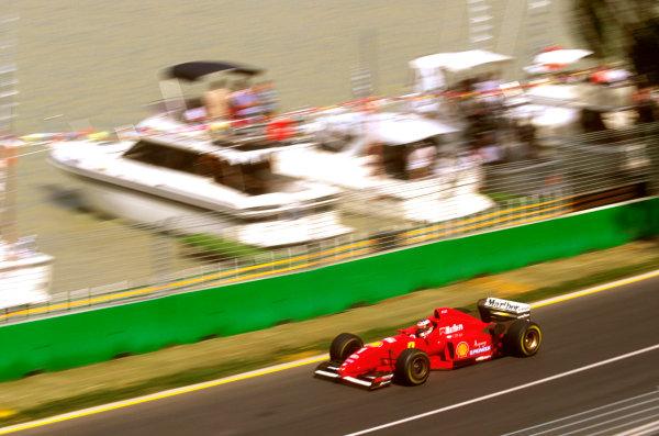 Albert Park, Melbourne, Australia.8-10 March 1996.Michael Schumacher (Ferrari F310) failed to finish due to a brake problem.Ref-96 AUS 28.World Copyright - LAT Photographic