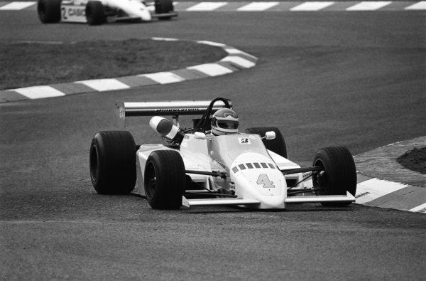 Emanuele Pirro (ITA) Onyx Race Engineering March 842 BMW/Mader. European Formula 2 Championship, Rd3, XVIII Deutschland Trophae, Hockenheim, Germany, 8 April 1984.