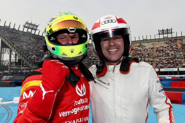 Mick Schumacher (GER) of Team Germany and Tom Kristensen (DNK) of Team Nordic celebrate after the final of the ROC Nations Cup on Saturday 19 January 2019 at Foro Sol, Mexico City, Mexico.